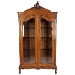 Antique Display Cabinet, 19th Century, Walnut, France 1880, B2567
