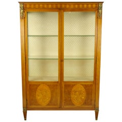 Antique Display Cabinet, Curio Cabinet, Louis XVl Cabinet, Vitrine, 1900