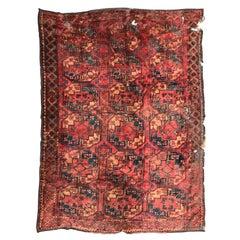 Antique Distressed 19th Century Turkmen Ersari