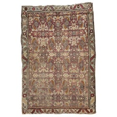 Antique Distressed Armenian Karabagh Rug