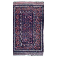 Antique Distressed Baluch Afghan Rug