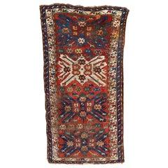 Antique Distressed Eagle Kazak Rug
