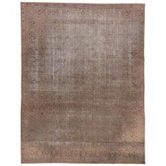 Antique Distressed Indian Amritzar Carpet, circa 1910s, Mauve Field