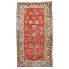 Antique Distressed Khotan Samarkand Rug, circa 1900  5' x 9'1