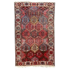 Antique Distressed Kurdish Rug