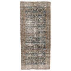 Antique Distressed Malayer Persian Rug, circa 1900, 4'11 x 11''6