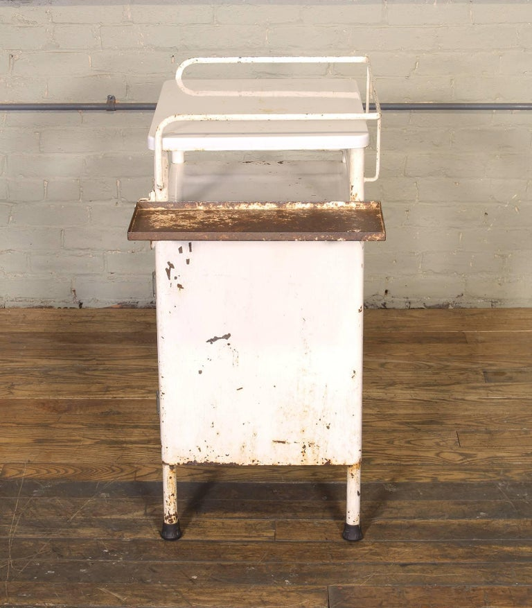 Antique Distressed Medical Storage Cabinet For Sale 3