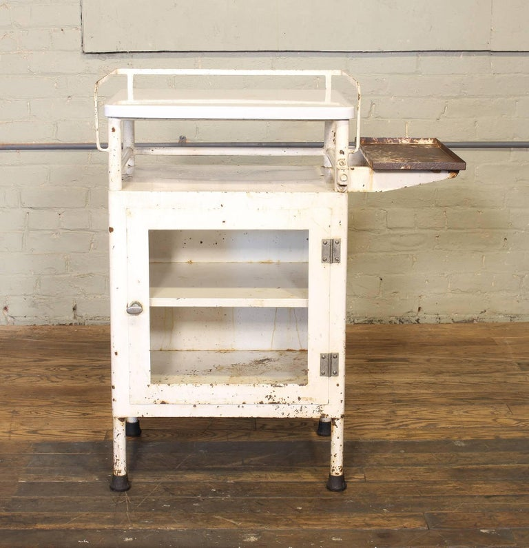 20th Century Antique Distressed Medical Storage Cabinet For Sale