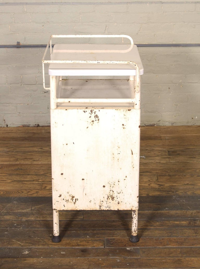 Antique Distressed Medical Storage Cabinet For Sale 2