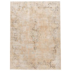 Antique Distressed Overdyed Rug