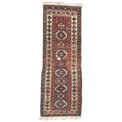 Antique Distressed Shirwan Caucasian Runner