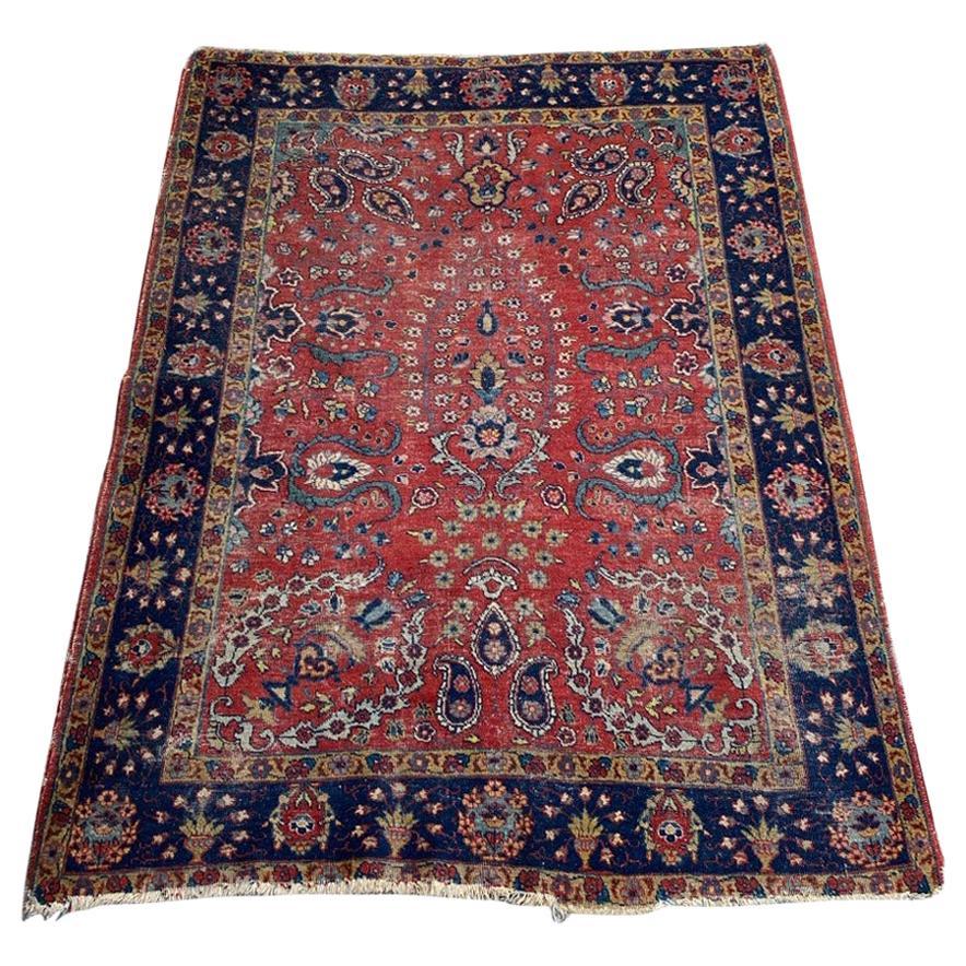 Antique Distressed Tabriz Rug