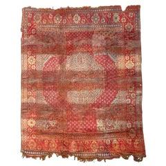 Antique Distressed Turkish Oushak Rug