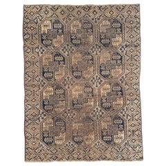 Antique Distressed Turkmen Afghan Rug