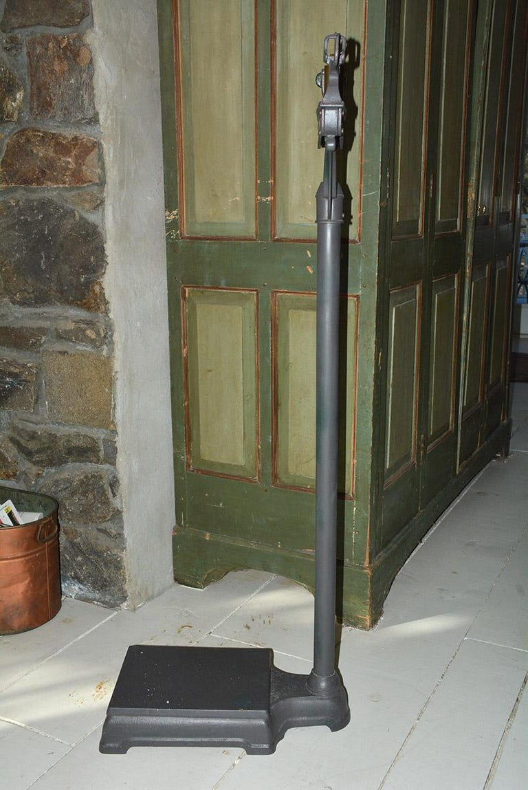 Industrial Antique Doctors Standing Scale For Sale