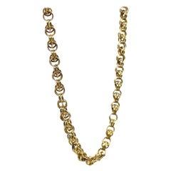 Antique Dog Clip Gold Chain Necklace