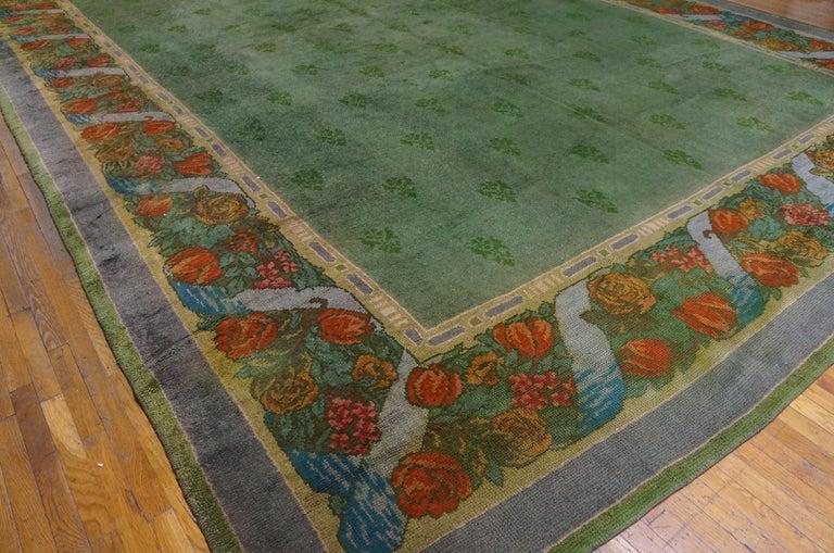 Antique Donegal - Arts & Crafts rug. Measures: 13'3