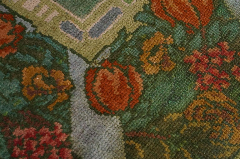 Northern Irish Antique Donegal, Arts & Crafts Rug For Sale