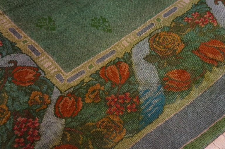 Hand-Knotted Antique Donegal, Arts & Crafts Rug For Sale