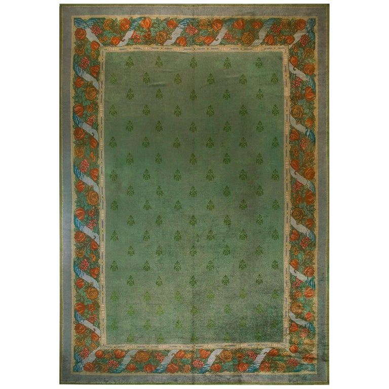 Antique Donegal, Arts & Crafts Rug For Sale