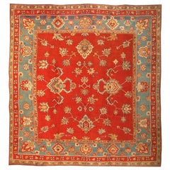 Antique Donegal Irish Rug. Size: 13 ft 3 in x 13 ft 8 in (4.04 m x 4.17 m)