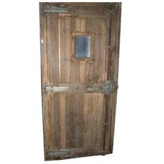 Antique Door for a Refrigeration Room