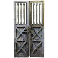 Antique Door/Gate Turned Columns, Lacquered, 16th Century, Origin Naples Italy