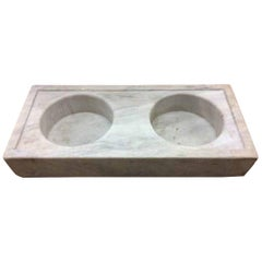 Antique Double Basin Marble Sink, circa 1800s