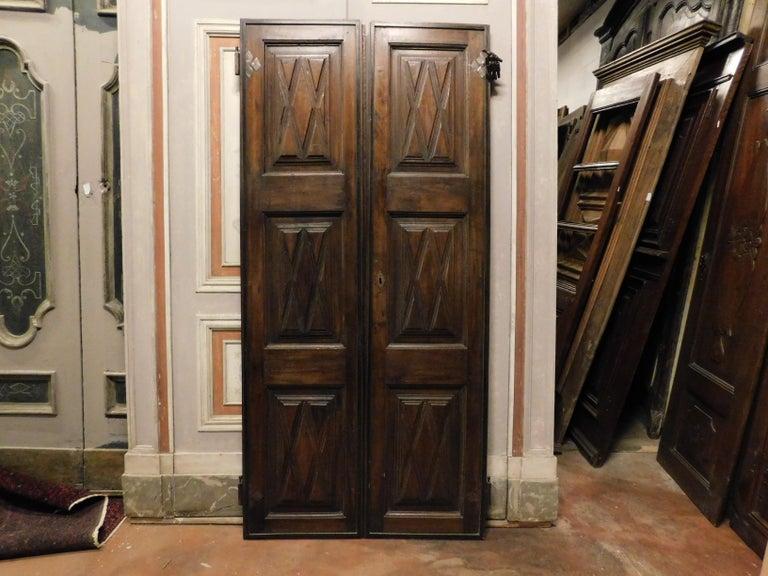 Open Armored Door. Door Lock, Dark Brown Door Closeup ...