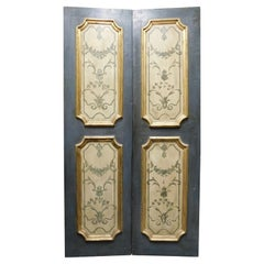 Antique Double Door, Painted and Gilded Panels, 18th Century, Italy 'Milan'