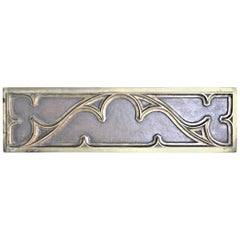 Antique Double Sided Cast Bronze or Brass Architectural Decorative Panel