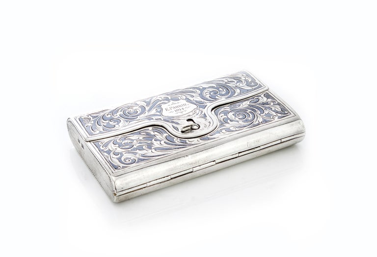 Victorian Antique Double Sided Cigarette Case For Sale