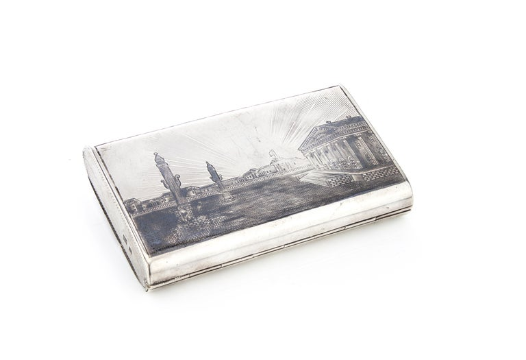 Russian Antique Double Sided Cigarette Case For Sale