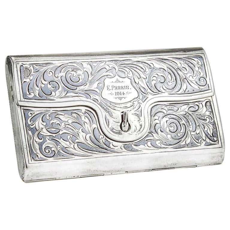 Antique Double Sided Cigarette Case For Sale