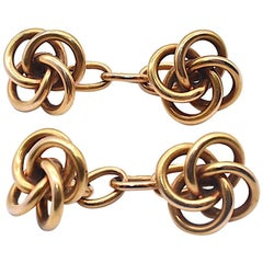Antique Double-Sided Lover's Knot Cufflinks, circa 1890