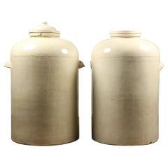 Antique Doulton Stoneware Chemical Jars, 20th Century