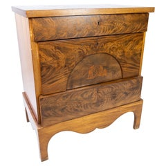 Antique Dresser of Mahogany with Inlaid Wood, 1840s