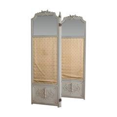 Antique Dressing Screen, Italian, Mahogany, Privacy, Room Divider, Victorian