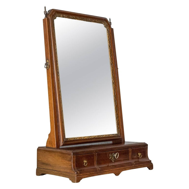 Antique Dressing Table Mirror, English Georgian, Mahogany, Toilet, Vanity  For Sale - Antique Dressing Table Mirror, English Georgian, Mahogany, Toilet