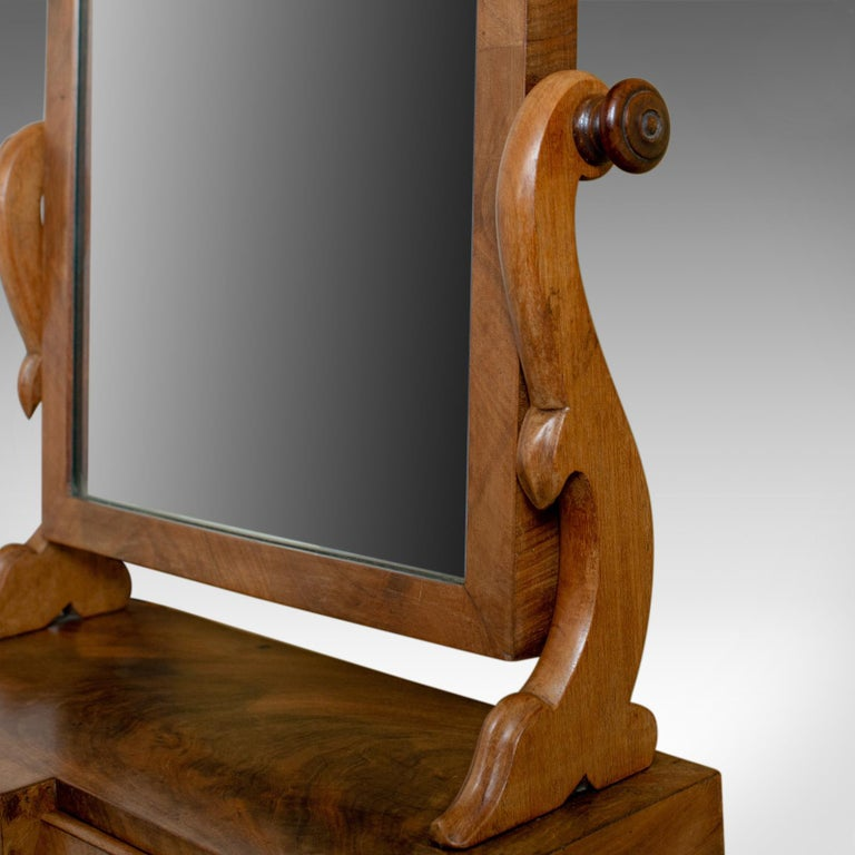 Antique Dressing Table Mirror, Victorian, Mahogany, Adjustable, Swing circa 1870 For Sale 1