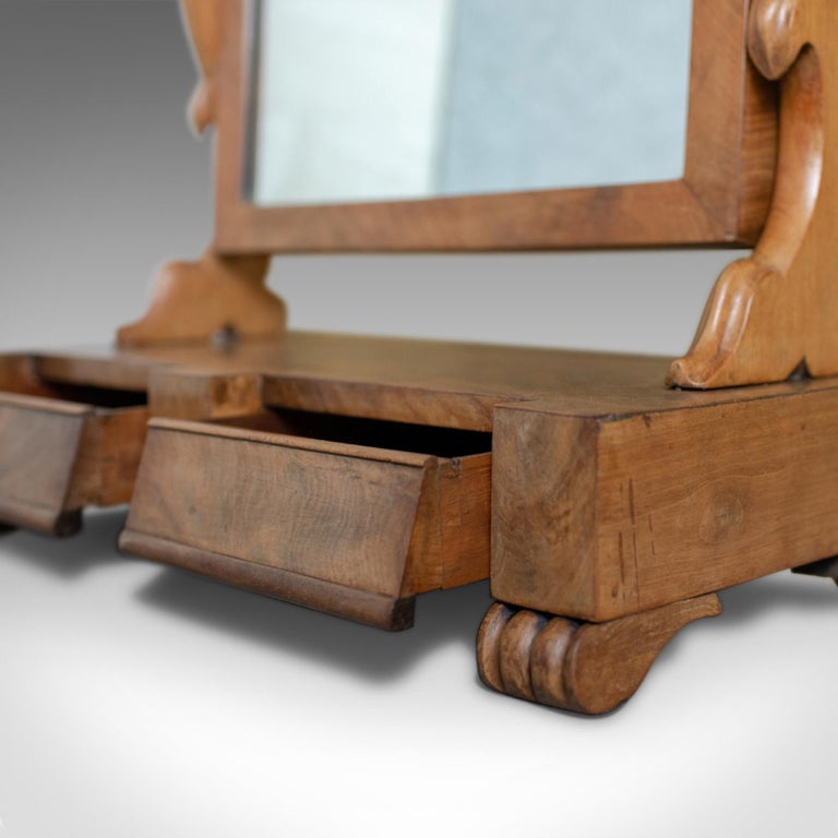 Antique Dressing Table Mirror, Victorian, Mahogany, Adjustable, Swing circa 1870 For Sale 4