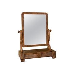 Antique Dressing Table Mirror, Victorian, Mahogany, Adjustable, Swing circa 1870