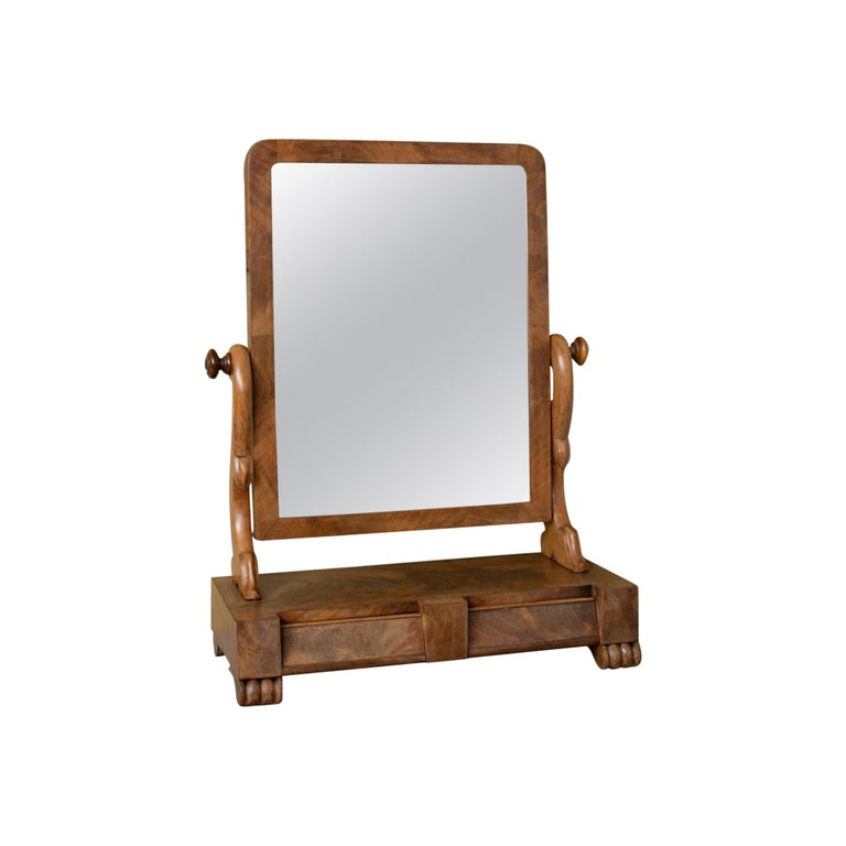 Antique Dressing Table Mirror, Victorian, Mahogany, Adjustable, Swing circa 1870 For Sale