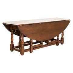 Antique Drop Leaf Gate Leg English Wake Table