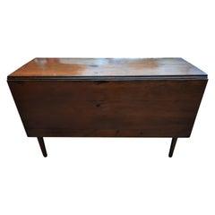 Antique Drop Leaf Table in Solid Hardwood