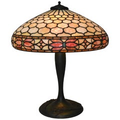 Antique Duffner & Kimberly Leaded Glass Table Lamp