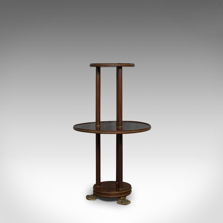 Antique Dumb Waiter, English, Victorian, Mahogany, Tiered, Empire, circa 1880 In Good Condition For Sale In Hele, Devon, GB