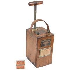 Antique Dupont Blasting Machine, with Storage Tin for Caps