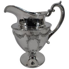 Antique Durgin Sterling Silver Water Pitcher in Regal Empire Pattern