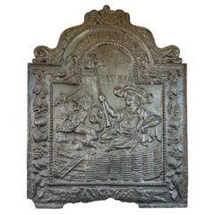 Antique Dutch Cast Iron Fireback